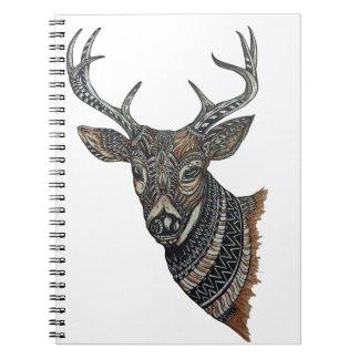 Deer Buck with Intricate Design Notebook