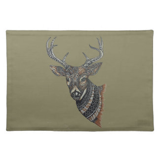 Deer Buck with Intricate Design Placemat