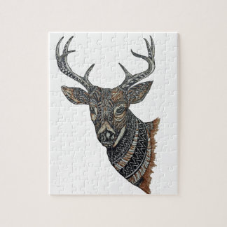 Deer Buck with Intricate Design Puzzle