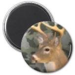 deer camo] 6 cm round magnet