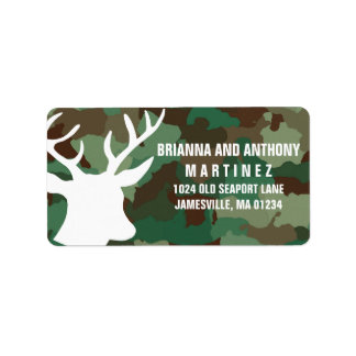 Deer & Camo Personalized Return Address Labels