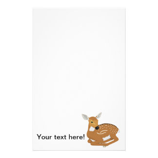 Deer cartoon personalized stationery