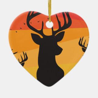 Deer Circle Christmas Ornament