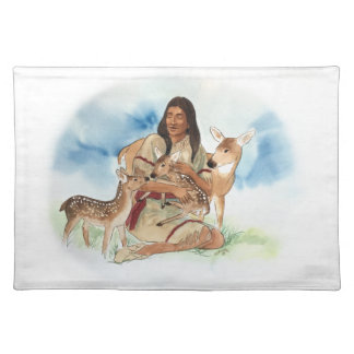 Deer Clan Mother With Her Fawns Placemat