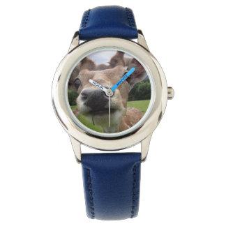 deer clock watch