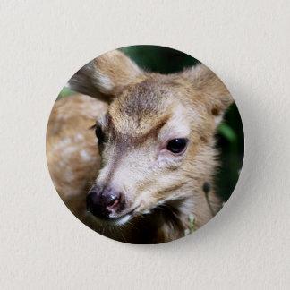 Deer Closeup 6 Cm Round Badge