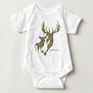 Deer Collection by GulfCoastCamo Baby Bodysuit