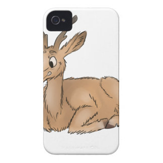 Deer - Coloured Sketch iPhone 4 Cover