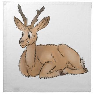 Deer - Coloured Sketch Napkin