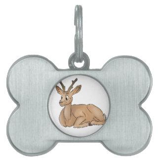 Deer - Coloured Sketch Pet Tag