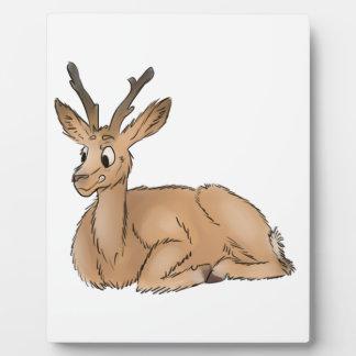 Deer - Coloured Sketch Plaque