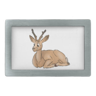 Deer - Coloured Sketch Rectangular Belt Buckles