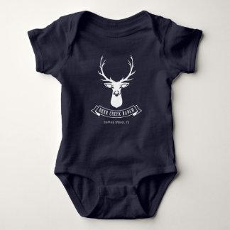 Deer Creek Ranch Baby (Navy) Baby Bodysuit