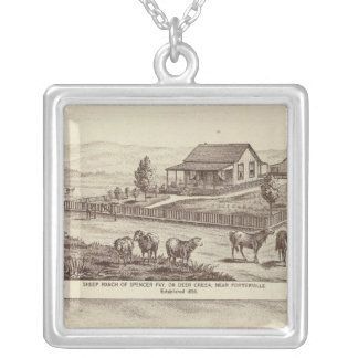 Deer Creek sheep ranches Silver Plated Necklace