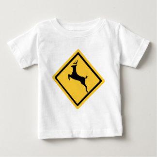 Deer Crossing Symbol Baby T-Shirt