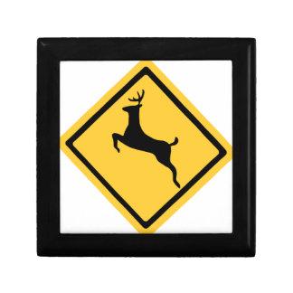 Deer Crossing Symbol Gift Box