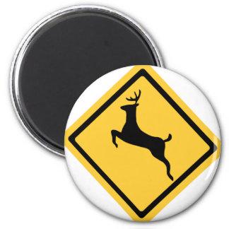 Deer Crossing Symbol Magnet