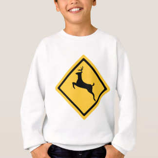 Deer Crossing Symbol Sweatshirt