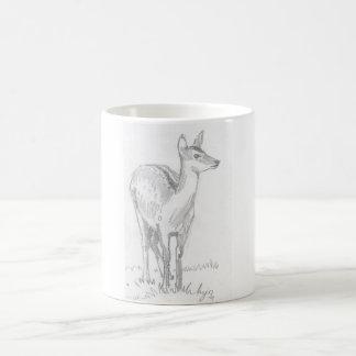 Deer Drawing Basic White Mug