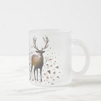 Deer dream frosted glass mug