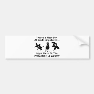 DEER,DUCK & PHEASANT HUNTING BUMPER STICKER