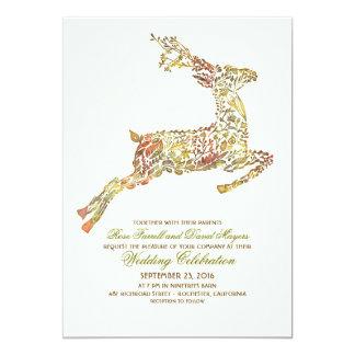 Deer Fall Woodland Wedding Invitations