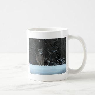 Deer Family Basic White Mug