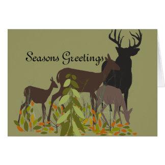 Deer Family Modern  Holidays Card