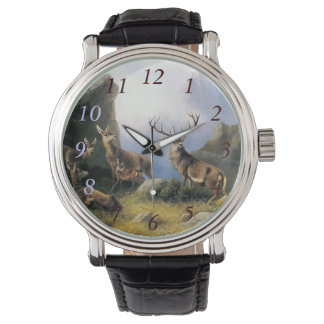 Deer family watch gift painting