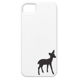 Deer fawn black white silhouette kawaii cute iPhone 5 covers