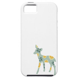 Deer fawn country pattern silhouette folk art case