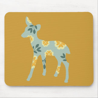 Deer fawn country pattern silhouette mouse mat