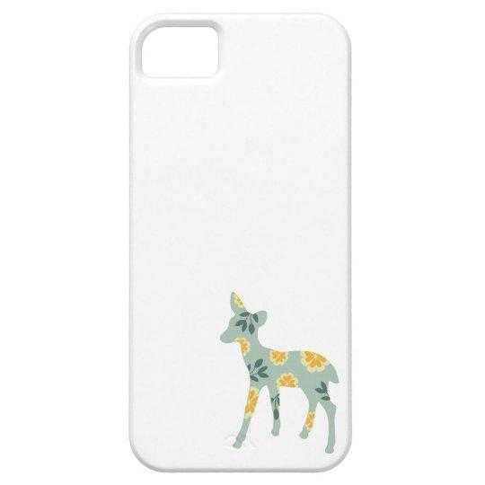 Deer fawn cute animal folk art nature pattern iPhone 5 cover