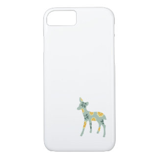 Deer fawn cute animal folk art nature pattern iPhone 7 case