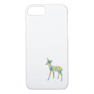 Deer fawn cute animal folk art nature pattern iPhone 8/7 case