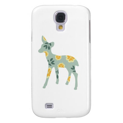 Deer fawn silhouette cute folk art nature pattern HTC vivid cover