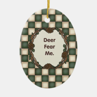 Deer Fear Me Funny Customizable Photo Christmas Ornament