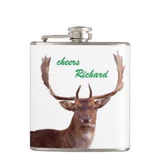 Deer flat man flasks