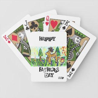 Deer forest art poker deck