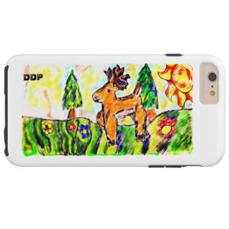 Deer forest art tough iPhone 6 plus case