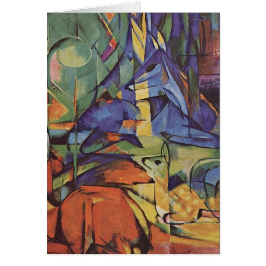 Deer - Franz Marc Card