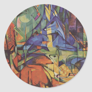 Deer - Franz Marc Classic Round Sticker