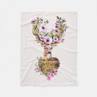 Deer Free Spirit Watercolor Design Blanket