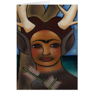 Deer Frida Card