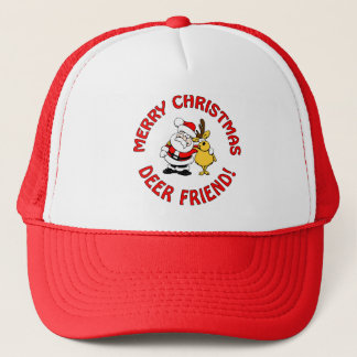 """Deer Friend"" Christmas hat, choose color Trucker Hat"