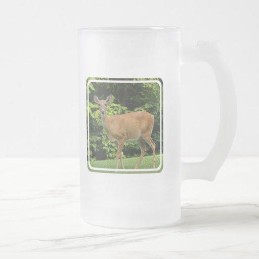 Deer Frosted Beer Mug