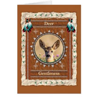 Deer -Gentleness- Custom Greeting Card