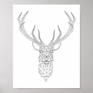 Deer Geometric Poster