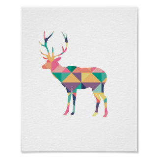Deer Graphic Poster