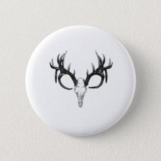 Deer head 6 cm round badge